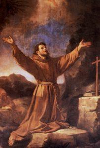 San Francesco riceve le stimmate.