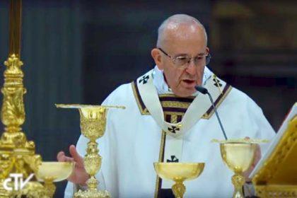 La Messa della notte di Natale di Papa Francesco
