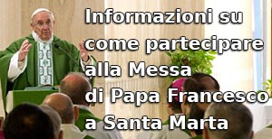 Come partecipare alla Messa di Papa Francesco a Santa Marta