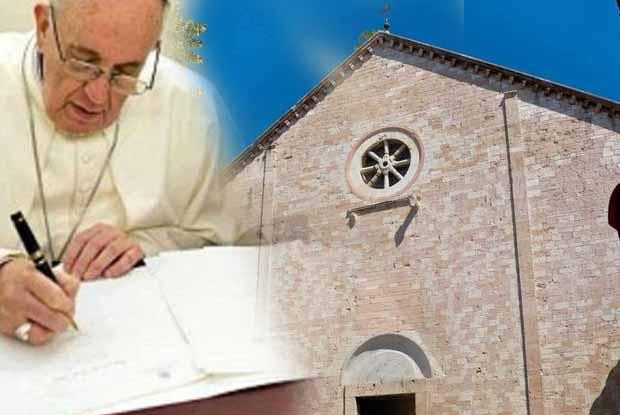 La lettera di Papa Francesco al Vescovo  di Assisi