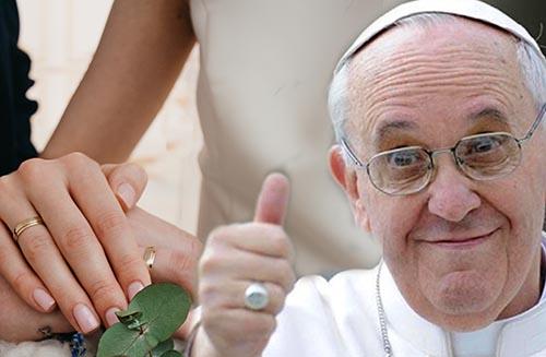 Papa Francesco e il matrimonio