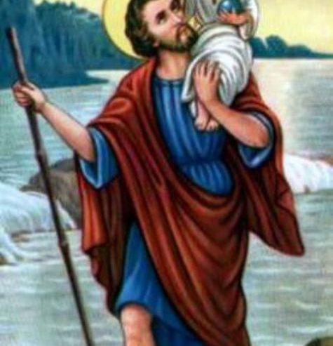 San Cristoforo. Il Santo che trasportò Cristo sulle spalle.