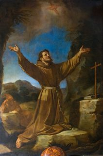 San Francesco prega il Crocifisso