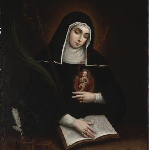 Santa Gertrude e il cuore mistico
