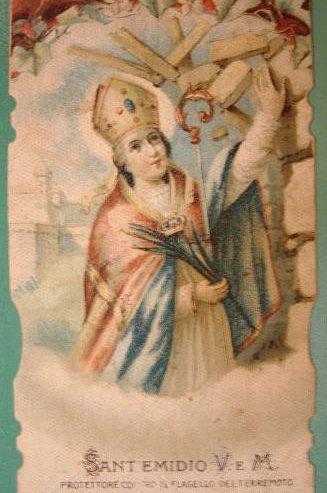 Preghiera a Sant'Emidio contro il terremoto