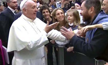 Un vecchio amico: Papa Francesco sussulta di gioia