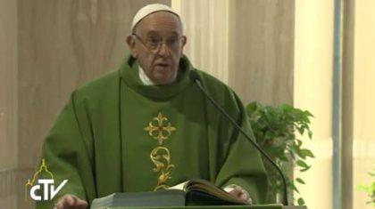 Papa Francesco: pusillanimità, un grave peccato per il cristiano