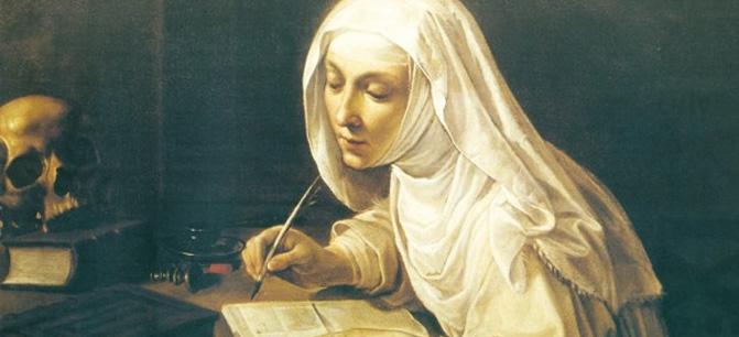 Santa Caterina da Siena, Dottore della Chiesa e Patrona d'Italia e d'Europa.