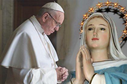 Preghiamo lìImmacolata con la preghiera scritta da Papa Francesco