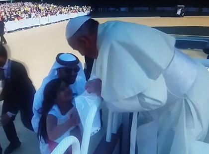 Imprevisto per Papa Francesco