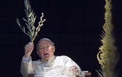 Il video dell'ultima Domenica delle Palme di Papa Wojtyla
