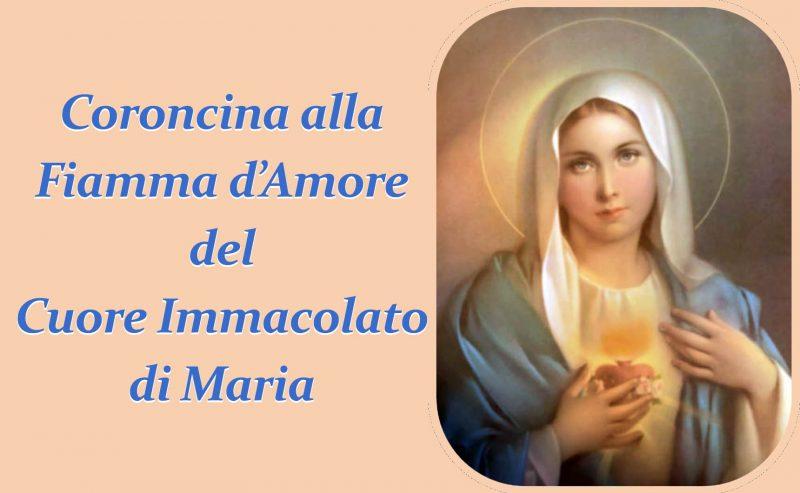 Coroncina alla Fiamma d'Amore del Cuore Immacolato di Maria