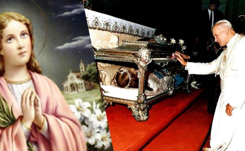 Così Giovanni Paolo II pregò Santa Maria Goretti