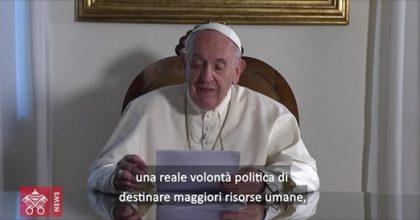 L'accorato vidomessaggio di Papa Francesco sul clima e la Terra