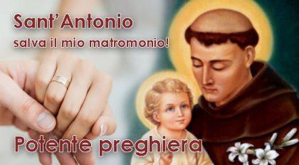 Potente preghiera a Sant'Antonio per salvare un matrimonio