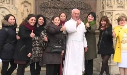 La statua di cera di Papa Francesco
