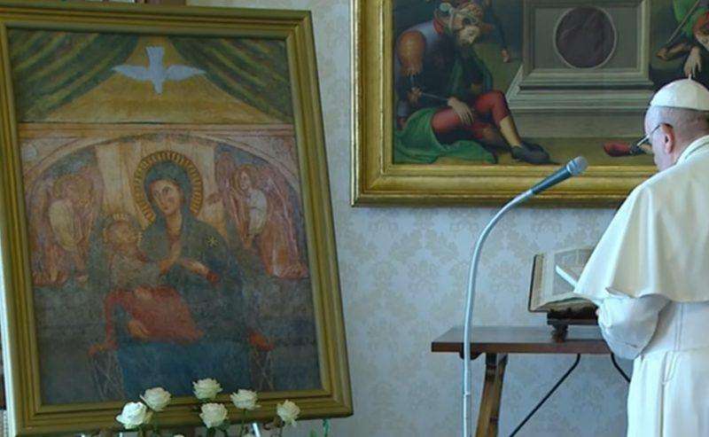 O Maria, tu risplendi sempre nel nostro cammino come segno di salvezza e di speranza
