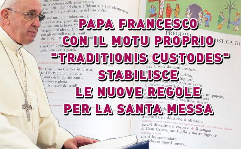 Papa Francesco detta le nuove regole per la celebrazione della Santa Messa